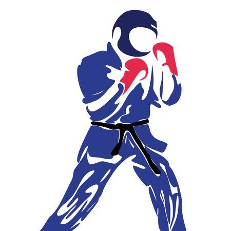 karate daidojuku kudo 스톡 콘텐츠