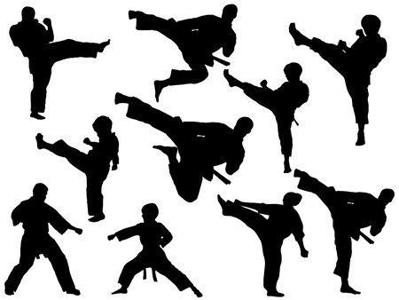 KARATE FIGHTERS Vector