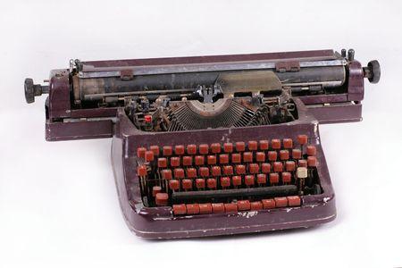 Old antique mechanical vintage cyrillic typewriter Stock Photo - 5851568