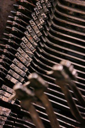 Old antique mechanical vintage cyrillic typewriter Stock Photo - 5851600