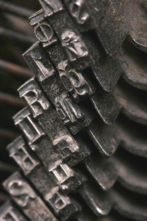 Old antique mechanical vintage cyrillic typewriter Stock Photo - 5851718