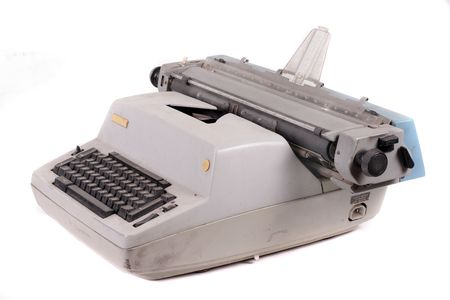 Old antique mechanical vintage cyrillic typewriter Stock Photo - 5851514