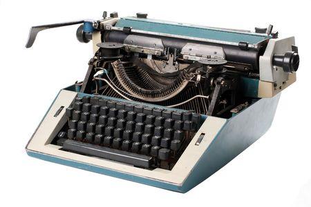 Old antique mechanical vintage cyrillic typewriter