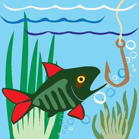fisch eis: Angeln. Fisher. Fisch. Eisangeln auf dem See Illustration
