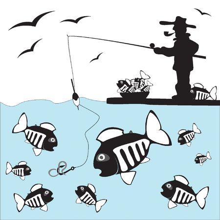 ice fishing: Fisher. Pescado. Pesca de hielo en la costa