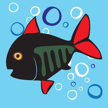 Beautiful colored small fish. Stock Vector - 6741997
