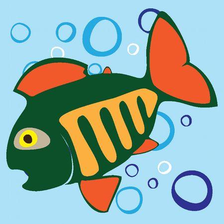 Beautiful colored small fish. Vector