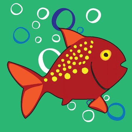 frozen fish: Beautiful colored small fish.