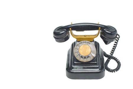 antique original grunge vintage Phone on white Stock Photo - 6835445