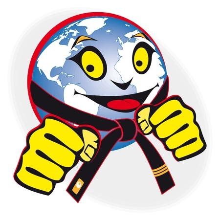 martial arts. humor oorspronkelijke teken, symbool