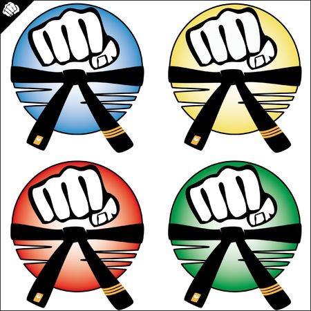 kyokushinkai: MARTIAL ARTS ORIGINAL FIST SET Illustration