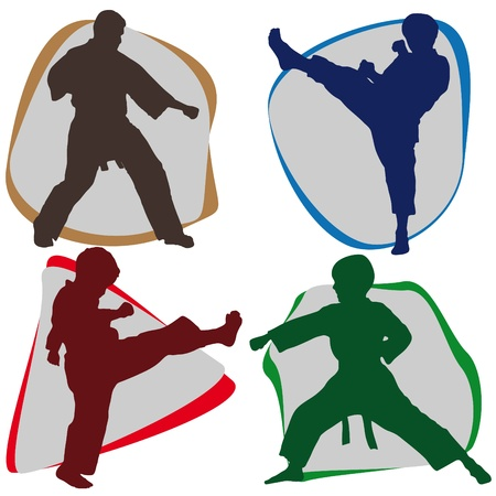 MARTIAL ARTS ORIGINAL SET Vector