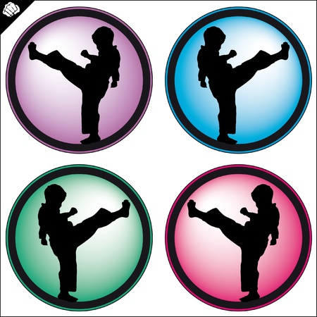 MARTIAL ARTS ORIGINAL CHILD SET Stock Vector - 8278645