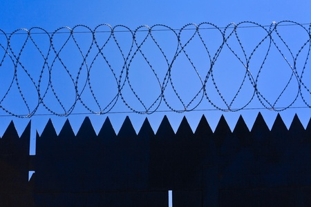 Original barbed and smoke industrial background. Stock Photo - 9445093