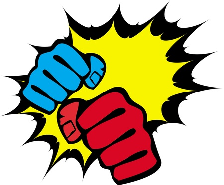 martial arts symbol - big strong fists Vector