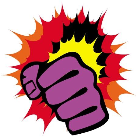 martial arts symbol - big strong fists Stock Vector - 11518869