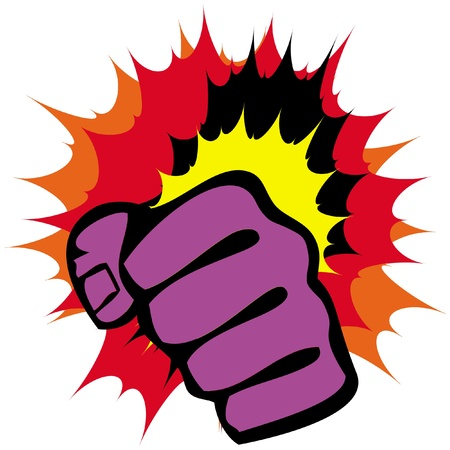 vechtsporten symbool - grote sterke vuisten Stock Illustratie
