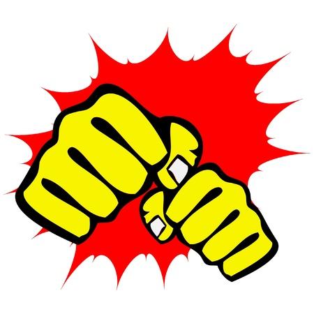 martial arts symbol - big strong fists Иллюстрация