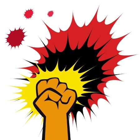 aggressive: martial arts symbol - big strong fists Illustration