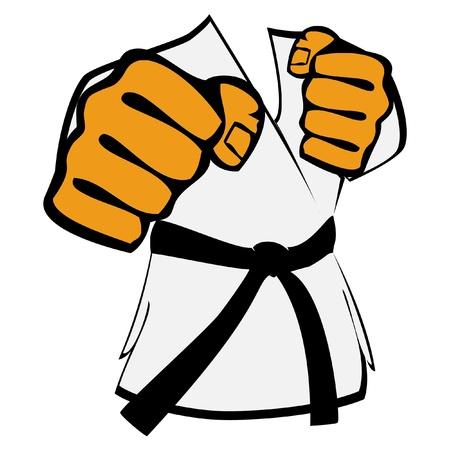 kung fu: martial arts kimono symbol Illustration