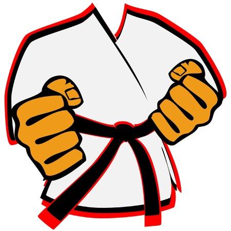 judo: kimono de artes marciales símbolo Vectores