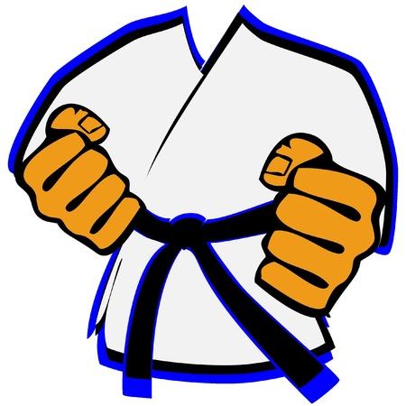 judo: kimono de artes marciales s�mbolo Vectores