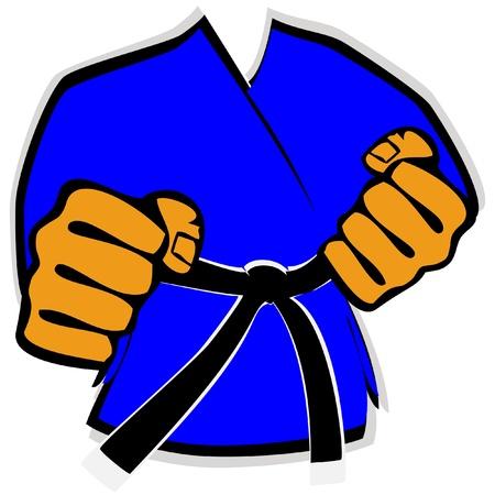 kudo: martial arts kimono symbol Illustration