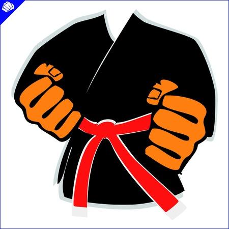 kung: martial arts kimono symbol Illustration
