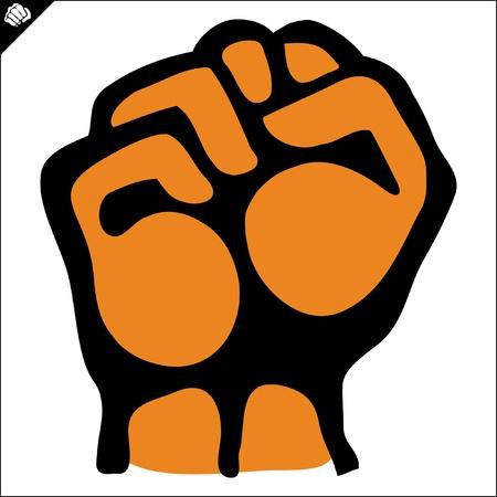 bjj: Fists.martial arts colored emblem, symbol. Karate style. Japan, Korea, Okinawa, China, Brazil, USA.Vector . Illustration
