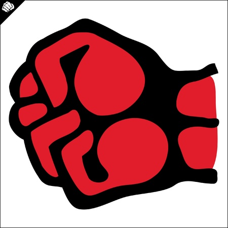 mix fighting: Fists.martial arts colored emblem, symbol. Karate style. Japan, Korea, Okinawa, China, Brazil, USA.Vector . Illustration