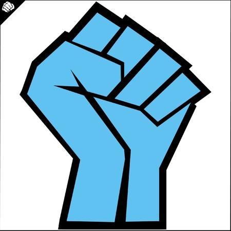 pu�os: Artes Fists.martial emblema de color, s�mbolo. Karate estilo. Jap�n, Corea, Okinawa, China, Brasil, USA.Vector.