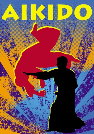 Poster aikido.martial arts colored emblem, simbol. Stock Vector - 11932253