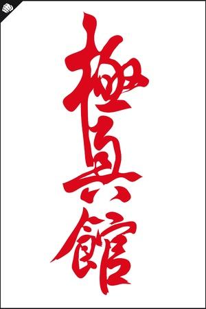 KARATE kyokushin kan MARTIAL ARTS HIEROGLIPH  Vector