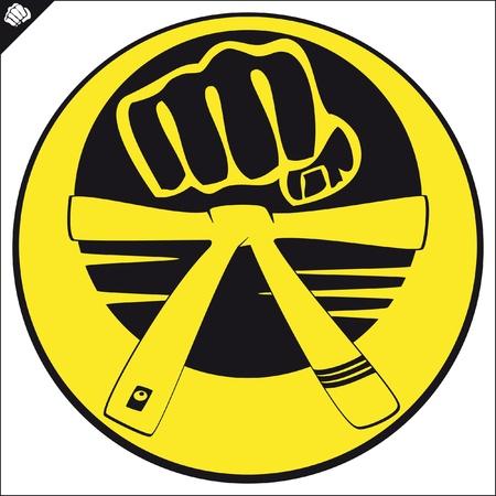 Martial arts emblem, simbol