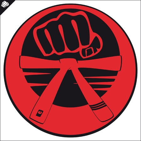 Martial arts emblem, simbol   Vector