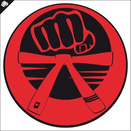 kickboxing: Martial arts emblem, simbol