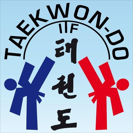 VECHTSPORTEN taekwon-do originele achtergrond UITSTEKENDE TEXTUUR