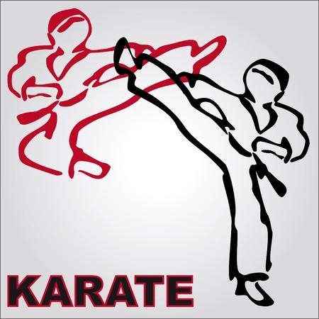 VECHTSPORTEN karate originele achtergrond VINTAGE TEXTUUR Stock Illustratie