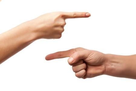 concept images: gesto della mano, segno su sfondo bianco