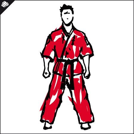 Fighting arts karate, taekwondo,hapkido,jiu jitsu