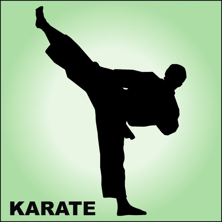 MARTIAL ARTS. ORIGINAL BACKGROUND VINTAGE TEXTURE Illustration