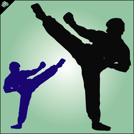 kungfu: Karate. Taekwon-do. Kung-fu. High kick. MARTIAL ARTS. Note to editor: