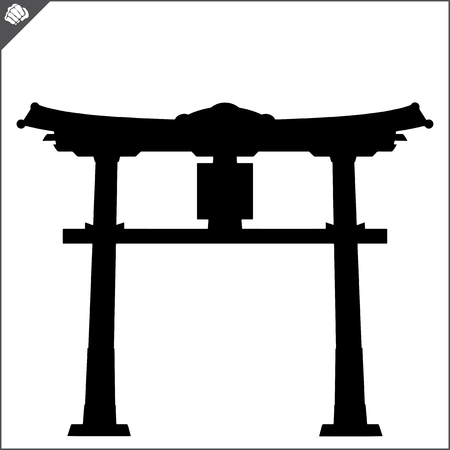 Japan traditional gate torii