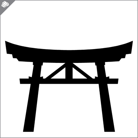 Japan traditional gate torii