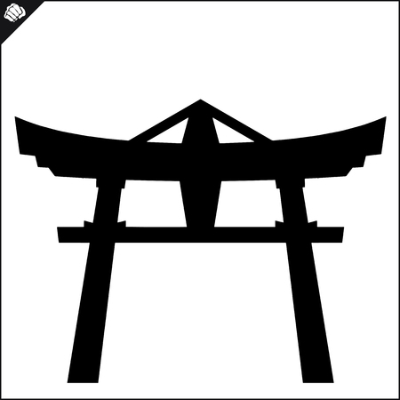 an island tradition: Japan traditional gate torii