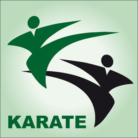 kudo: Traditional japan martial arts fist karate belt Illustration