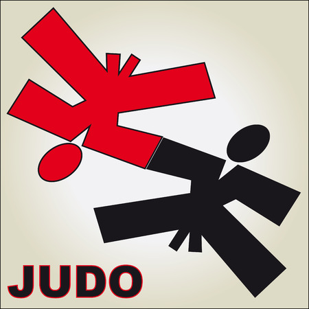 aikido: Traditional japan martial arts fist karate belt Illustration