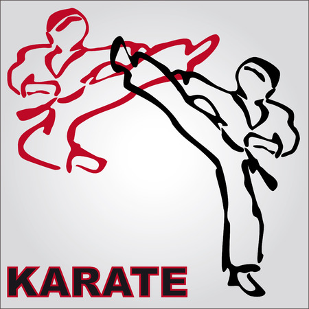 kyokushinkai: Traditional japan martial arts fist karate belt Illustration