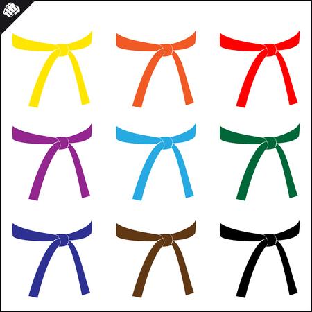 Kampfkunst farbiges Symbol, Logo. Karate kreatives Design-Emblem. Logo