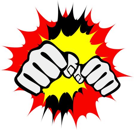 Martial art colored symbol. Karate creative design emblem.